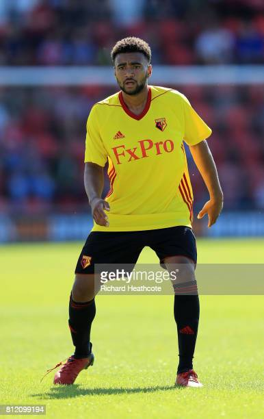 Ash Charles of Watford in action during the preseason friendly match between Woking and Watford U23 at the Laithwaite Community Stadium on July 08...