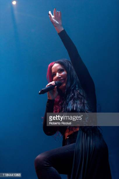 Ash Costello of New Year's Day performs on stage at The SSE Hydro on November 24, 2019 in Glasgow, Scotland.