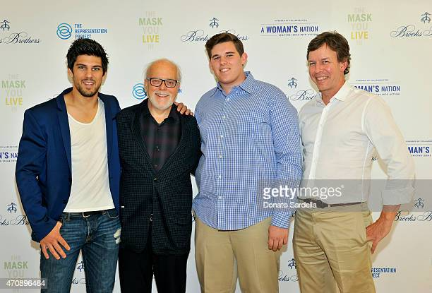 Ash Crawford Carl Bendix Christopher Schwarzenegger and educator William Thomas Thach attend as Brooks Brothers presents The Mask You Live In Los...