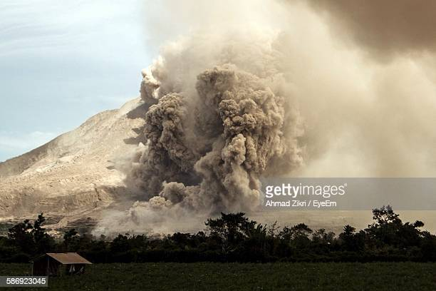 Ash Explosion From Volcanic Mountain