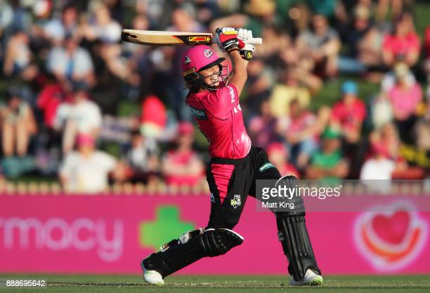 Ash Gardner of the Sixers bats during the Women's Big Bash League WBBL match between the Sydney Sixers and the Melbourne Stars at North Sydney Oval...