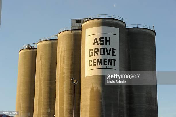 Ash Grove cement plant at sunrise Port of Seattle Washington USA January 13 2015