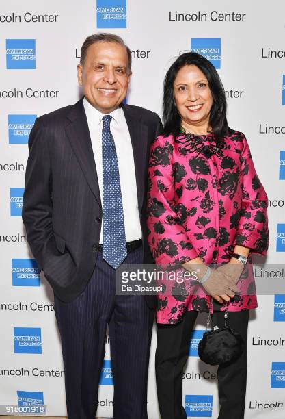 Ash Gupta and Anita Gupta attend the Winter Gala at Lincoln Center at Alice Tully Hall on February 13 2018 in New York City