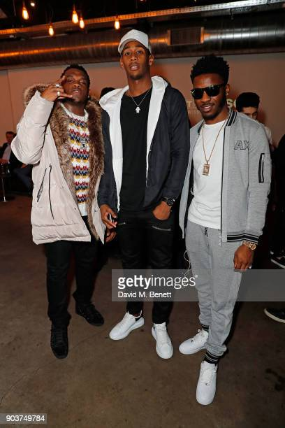 Ash Kirnon Reece Oxford and Lucas Henry attend The Tissot x NBA Launch Party at BEAT on January 10 2018 in London England