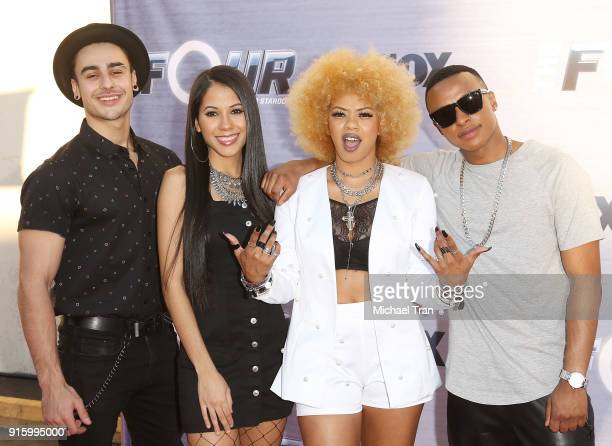 """Ash Minor, Lex Lu, Elanase Lanson and Blair Perkins attend FOX's """"The Four: Battle For Stardom"""" Season Finale viewing party held at Delilah on..."""