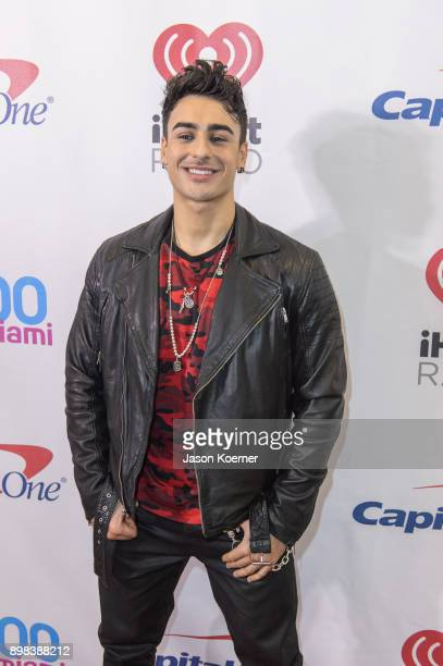 Ash Minor of The Four arrives at the IHeartRadio Jingle Ball 2017 at BBT Center on December 17 2017 in Sunrise Florida
