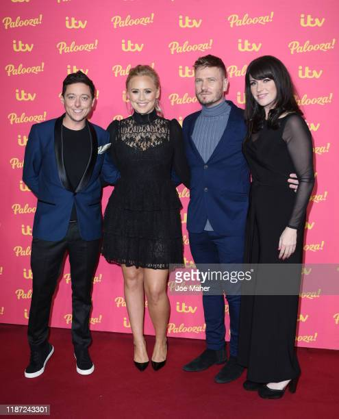 Ash Palmisciano Amy Walsh Matthew Wolfenden and Laura Norton attend the ITV Palooza 2019 at The Royal Festival Hall on November 12 2019 in London...