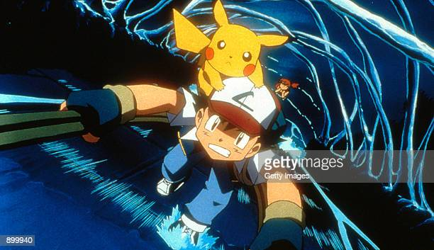 Ash Pikachu and Misty in 4Kids Entertainment's animated adventure Pokemon3 distributed by Warner Bros Pictures