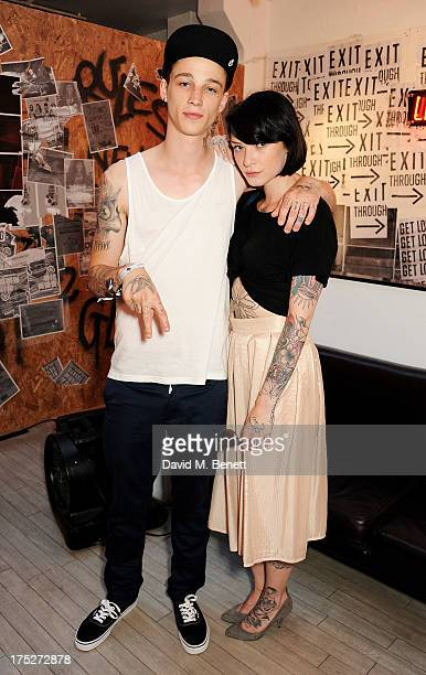 Ash Stymest and Pippa Bunny Holland attend Converse At The Circle celebrating the Chuck Taylor All Star 'Rock Craftsmanship' collection on August 1...