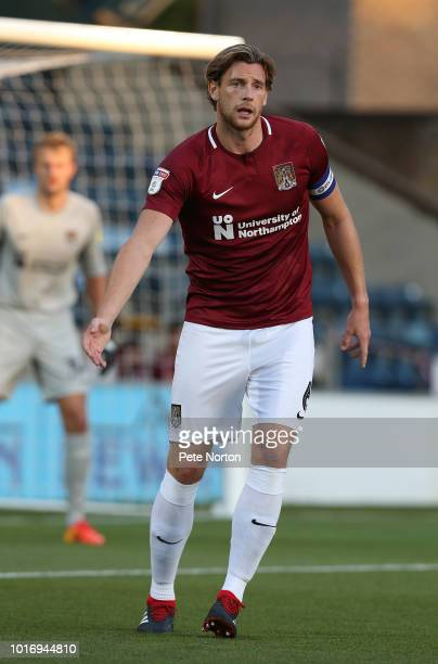 Ash Taylor of Northampton Town in action during the Carabao Cup First Round match between Wycombe Wanderers and Northampton Town at Adams Park on...