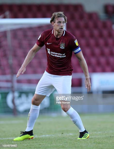 Ash Taylor of Northampton Town in action during the PreSeason Friendly match between Northampton Town and Barnet at PTS Academy Stadium on July 27...