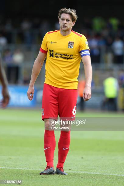 Ash Taylor of Northampton Town in action during the Sky Bet League Two match between Carlisle United and Northampton Town at Brunton Park on August...
