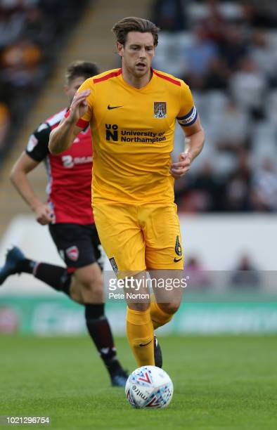 Ash Taylor of Northampton Town in action during the Sky Bet League Two match between Morecambe and Northampton Town at Globe Arena on August 21 2018...