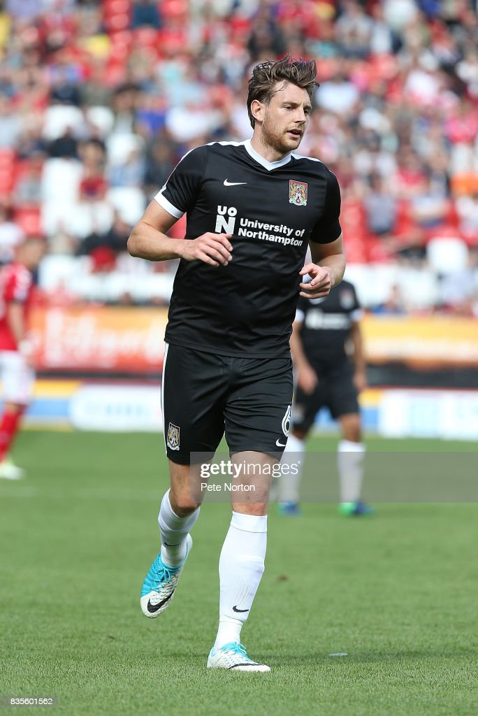 Ash Taylor of Northampton Town in action during the Sky Bet League One match between Charlton Athletic and Northampton Town at The Valley on August 19, 2017 in London, England.