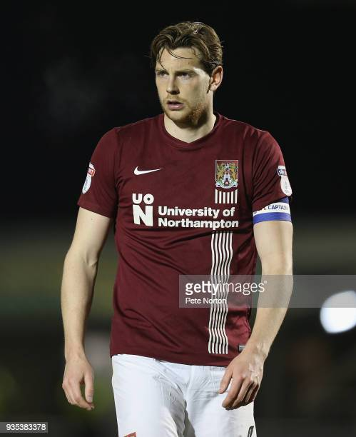 Ash Taylor of Northampton Town in action during the Sky Bet League One match between Northampton Town and Shrewsbury Town at Sixfields on March 20...