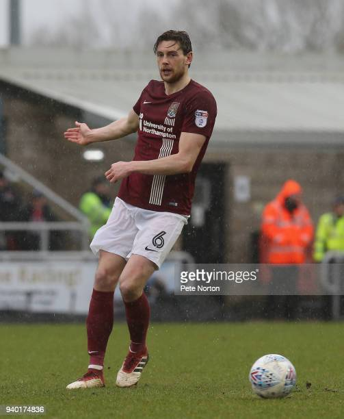 Ash Taylor of Northampton Town in action during the Sky Bet League One match between Northampton Town and Charlton Athletic at Sixfields on March 30...