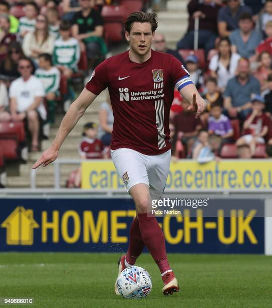 Ash Taylor of Northampton Town in action during the Sky Bet League One match between Northampton Town and Plymouth Argyle at Sixfields on April 21...