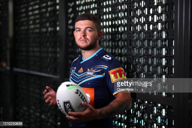 Ash Taylor poses during the Gold Coast Titans NRL media day on March 04, 2020 in Gold Coast, Australia.