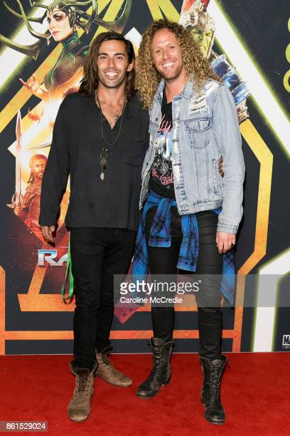 Ash Toweel and Tim Dormer attend the THOR RAGNAROK Sydney special event screening at Hoyts Entertainment Quarter Sydney Australia on October 15 2017...
