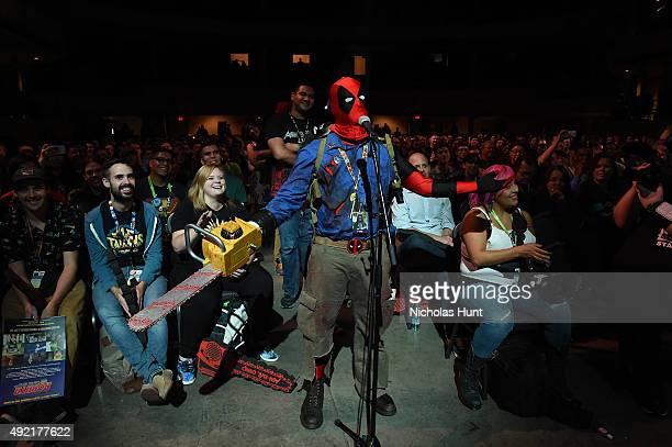 Ash vs Evil Dead Panel At Hammerstein Ballroom During New York Comic Con at Hammerstein Ballroom on October 10, 2015 in New York City.