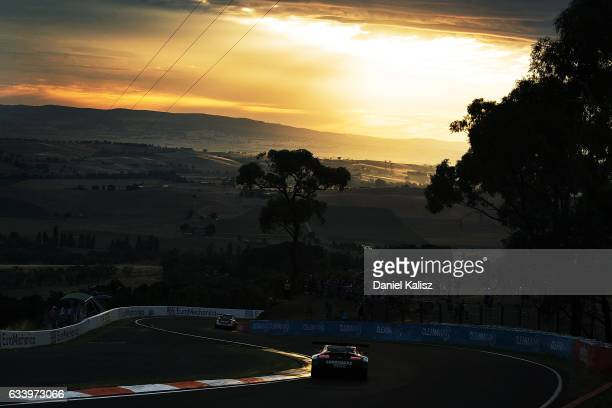 Ash Walsh drives the Miedecke Stone Motorsport Aston Martin V12 Vantage during the 2017 Bathurst 12 hour race at Mount Panorama on February 5 2017 in...