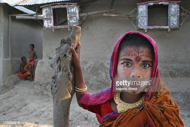 Asha a member of a Palanquin porters family in bridal makeup she knows very well that riding palanquin is only a dream Palanquins are still used for...