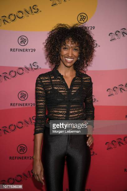 Asha Abdella arrives at Refinery29's 29Rooms at The Reef on December 4 2018 in Los Angeles California