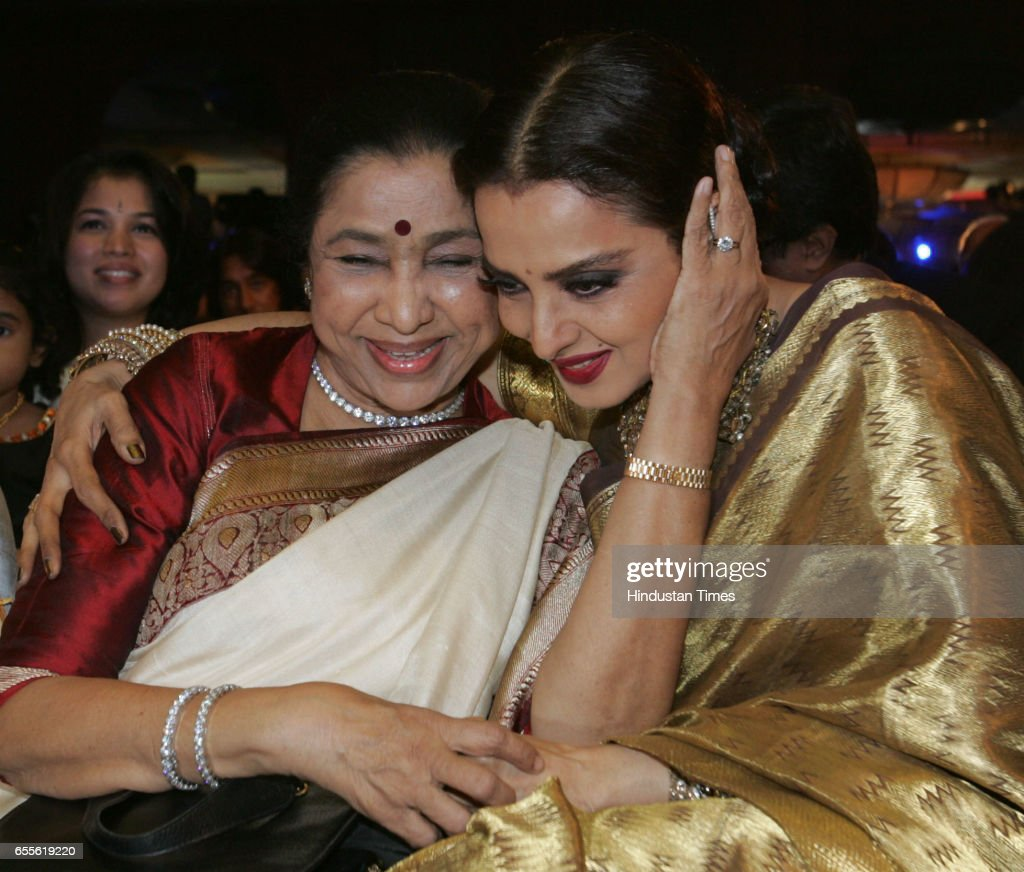 Asha Bhosle and Rekha Launch of the Gautam Rajadhyaksha `s Book Chehre at JW Marriott at Juhu