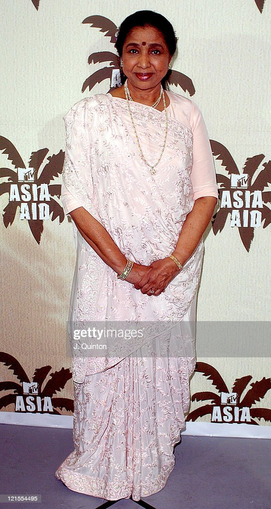 Asha Bosle during MTV Asia Aid - Press Room at Impact Arena