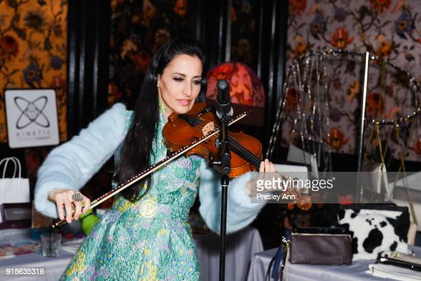 Asha Mevlana attends Leesa Rowland's Animal Ashram PopUp Penthouse on February 7 2018 in New York City
