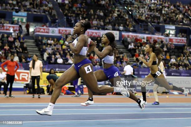 Asha Philip of Great Britain in action in the 60m at Arena Birmingham on February 09 2019 in Birmingham England