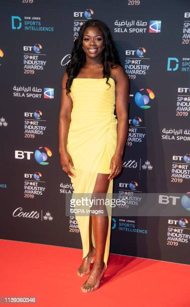 Asha Phillip appears on the red carpet ahead of the BT Sport Industry Awards 2019 at Battersea Evolution