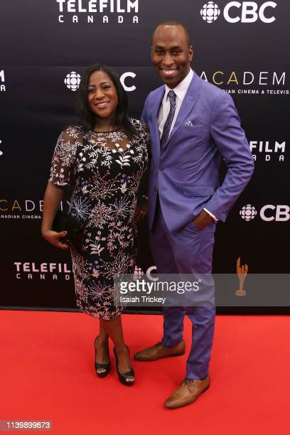 Asha Tomlinson and Ryan Henry attend the 2019 Canadian Screen Awards Broadcast Gala at Sony Centre for the Performing Arts on March 31 2019 in...