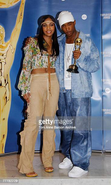Ashanti and American rap singer Ja Rule celebrate his World's Bestselling Rap Artist award during the World Music Awards ceremony in Monaco March 6...