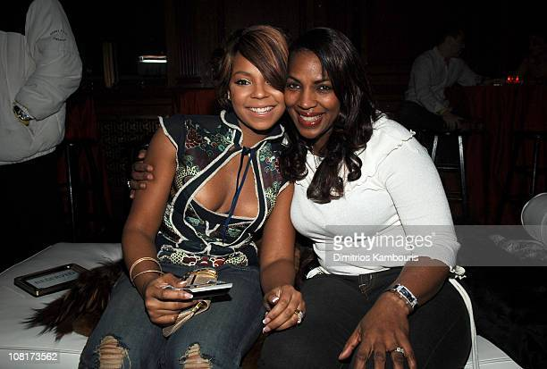 Ashanti and her mother Tina during The Flaming Lips and Pussycat Dolls Team to Unveil The Hottest car of the Year The Convertible Mazda MX 5 at...