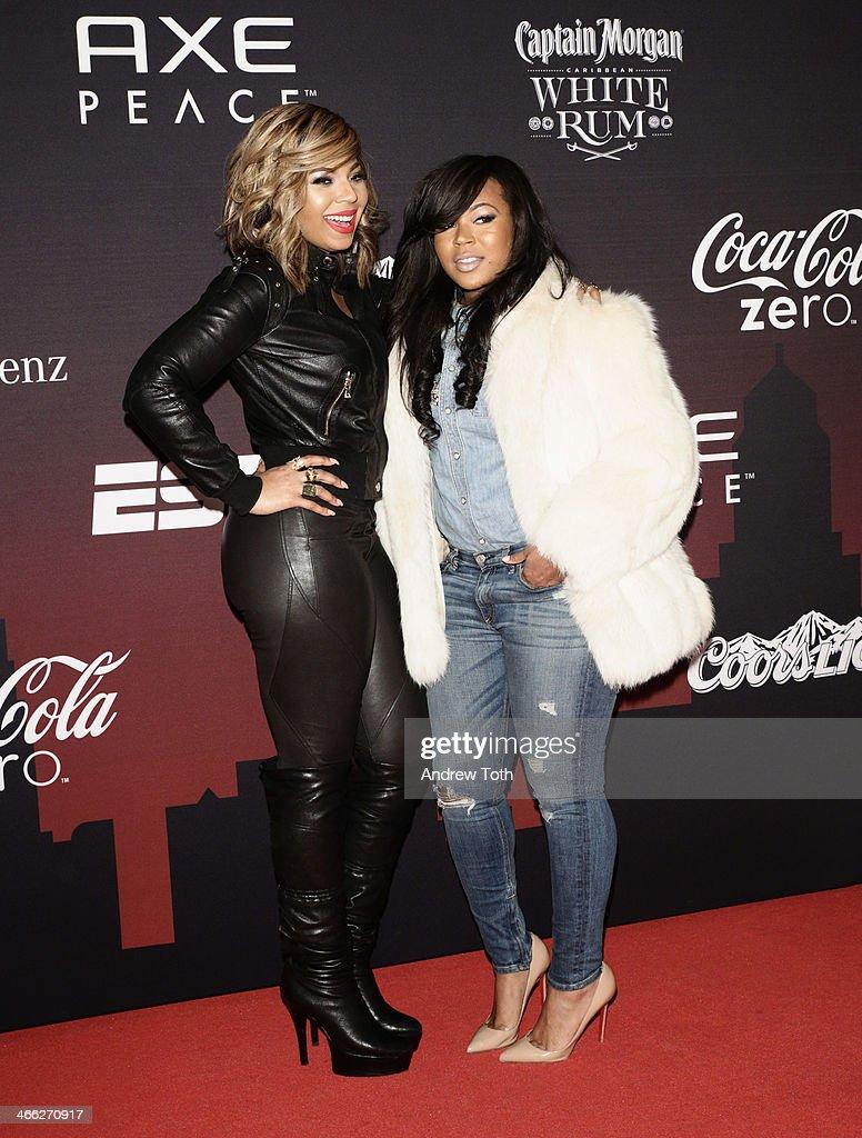 Ashanti and her sister Kenashia Douglas attend 2014 ESPN ...
