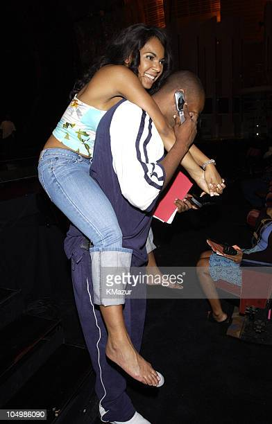 Ashanti and Ja Rule during 2002 MTV Video Music Awards Rehearsals Day 1 at Radio City Music Hall in New York City New York United States