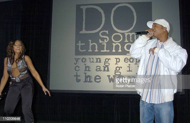Ashanti and Ja Rule during Ashanti Appears at the 2004 Do Something Brick Awards at Metropolitan Pavilion in New York City New York United States