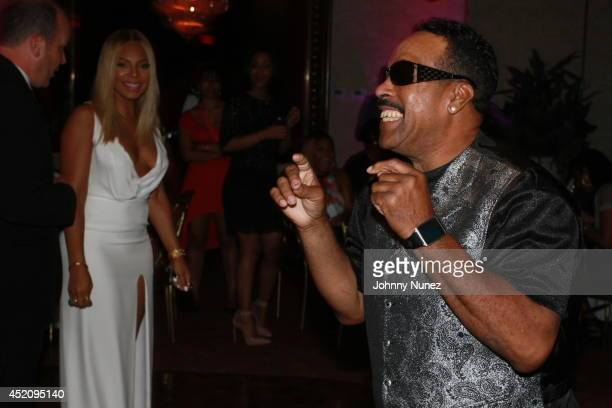 Ashanti and KenKaide Thomas Douglas attend Tina's Forever Young Birthday Extravaganza at Crest Hollow Country Club on July 12 2014 in Woodbury Nassau...