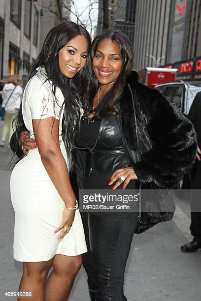 Ashanti and mother Tina Douglas stop by the Godiva store after an appearance on The Meredith Vieira Show on April 08 2015 in New York City