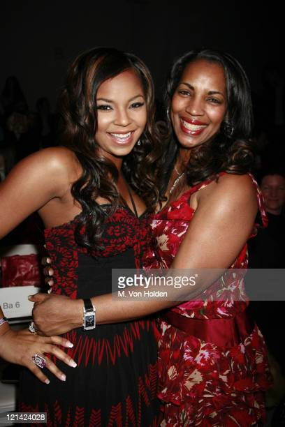 Ashanti and mother Tina during Olympus Fashion Week Fall 2006 - Vivienne Tam - Runway at Bryant Park in New York City, New York, United States.