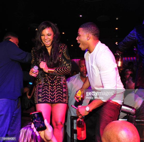 Ashanti and Nelly attends the birthday celebration of ...