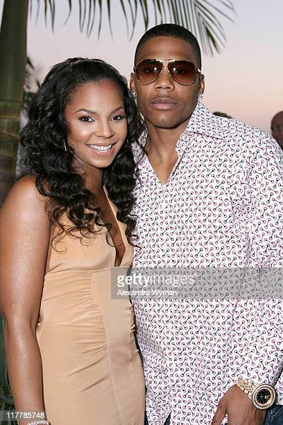 Ashanti and Nelly during Ashanti Hosts Etoile Sparkling Wine Dinner at Private Home in Los Angeles CA United States