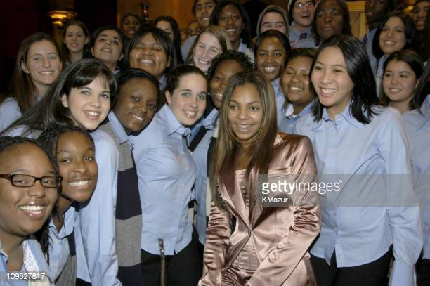 Ashanti and The American Family Choir during TNT's Christmas in Washington Concert Backstage at The National Building Museum in Washington DC United...