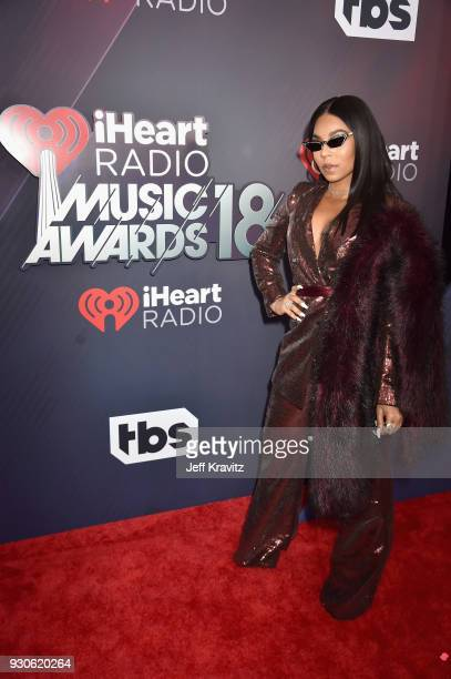 Ashanti arrives at the 2018 iHeartRadio Music Awards which broadcasted live on TBS TNT and truTV at The Forum on March 11 2018 in Inglewood California