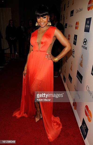 Ashanti arrives at the 55th Annual GRAMMY Awards PreGRAMMY Gala and Salute to Industry Icons honoring LA Reid held at The Beverly Hilton on February...