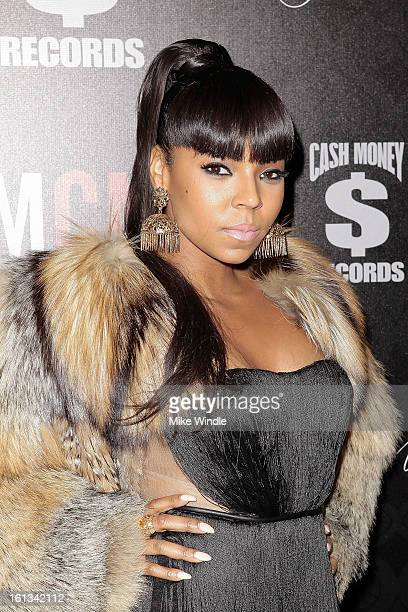 Ashanti arrives at the Cash Money Records 4th annual preGRAMMY Awards party on February 9 2013 in West Hollywood California