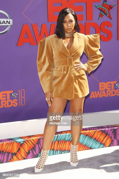 Ashanti arrives to the 2018 BET Awards held at Microsoft Theater on June 24 2018 in Los Angeles California