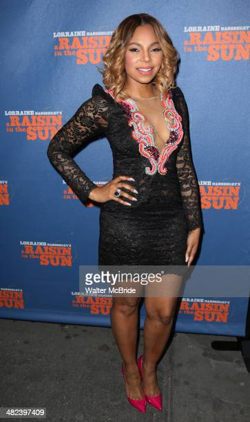 Ashanti attends 'A Raisin In The Sun' Broadway Opening Night at The Ethel Barrymore Theatre on April 3 2014 in New York City