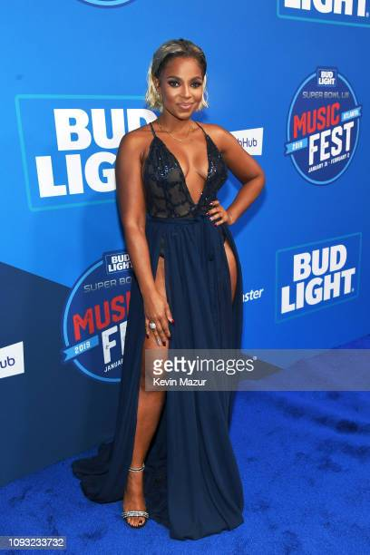 Ashanti attends Day 3 of Bud Light Super Bowl Music Fest at State Farm Arena on February 2 2019 in Atlanta Georgia